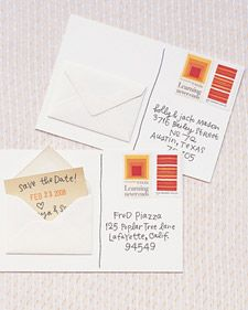 Save-the-Date Postcards   Step-by-Step   DIY Craft How To's and Instructions  Martha Stewart