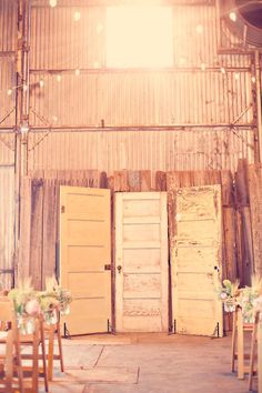 old door backdrop. So cute, I never woulda thought