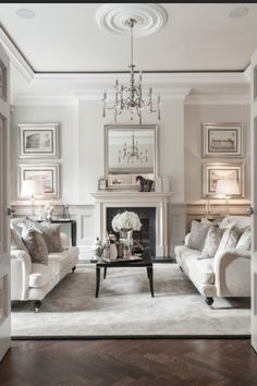 Home Decor White - formal living room elegant, fancy white couch black coffee table