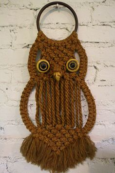 Oh So Cool Retro Macrame Owl by InTheBusinessOfCool on Etsy, $34.00