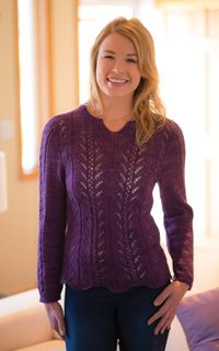 Plum Twist Sweater - from the Fall 2014 Issue of Love of Knitting magazine
