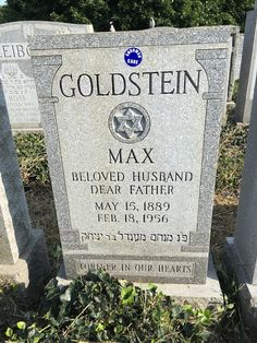 A Jewish Genealogy Journey: Tombstone Tuesday ~ Uncle Max and Aunt Lottie