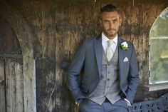 A gorgeous suit and tweed waistcoat from Peter Posh... Available at The Groom's Room.