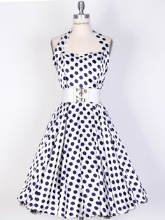 Polka Dot Swing Satin Dress - this is just so cute and figure flattering.