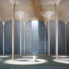 London-based architecture practice AL_A, led by the Stirling Prize-winning architect Amanda Levete, has won an invited competition to design a new mosque in Abu Dhabi. The Mosque is part of the World Trade Center deve. Sacred Architecture, Dezeen Architecture, Architecture Design, Mosque Architecture, Cultural Architecture, Religious Architecture, Residential Architecture, Contemporary Architecture, Contemporary Design