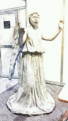 Spotted a Weeping Angel at the Doctor Who 50th Celebration...Don't Blink!  #SketchGuru having fun in England capturing pictures by cellphone and editing with apps. by BeyondtheWhiskers, via Flickr