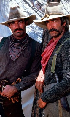 Get This Special Offer Tom Selleck and Sam Elliott in The Sacketts Poster Sam Elliott, Tom Selleck, Western Film, Western Cowboy, Katherine Ross, Real Cowboys, Mountain Man, Old West, Moustaches