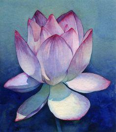 "Saatchi Art Artist: Piero Horna; Watercolor 2002 Painting ""Lotus flower"""