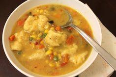 Speedy Chicken & Dumplings Soup!! Low calorie comfort food