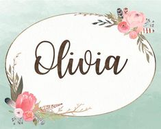 Boho Nursery, Nursery Art, Nursery Decor, Girls Names Vintage, Name Paintings, Watercolor Girl, Name Art, Baby Girl Names, Little Girl Rooms