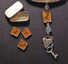 secrets by ninabagley on Etsy Art Deco Necklace, Dog Tag Necklace, Ephemera, Dog Tags, The Secret, Personalized Items, Antiques, Crafts, Etsy