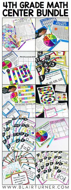 4th Grade Math Centers - BlairTurner.com