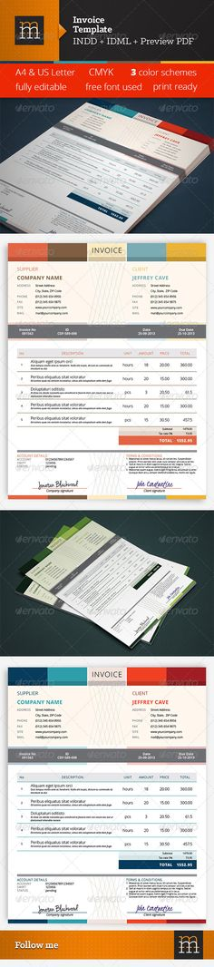Free Job Proposal Template Invoice  Pinterest