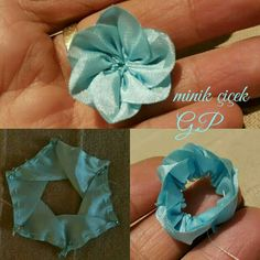 Best 12 How to make kanzashi leaves (petals) I 6 Different leaves, Diy kanzashi,Tutorial – SkillOfKing. Kanzashi Tutorial, Ribbon Flower Tutorial, Ribbon Art, Ribbon Crafts, Flower Crafts, Satin Flowers, Diy Flowers, Fabric Flowers, Rose Embroidery
