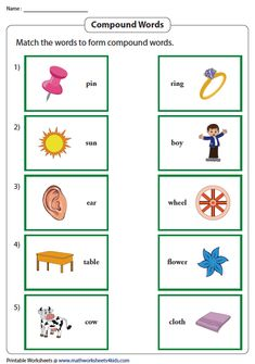 Match and Form Compound Words