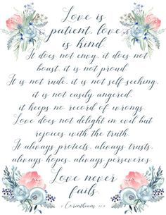 Love is Patient, Lov