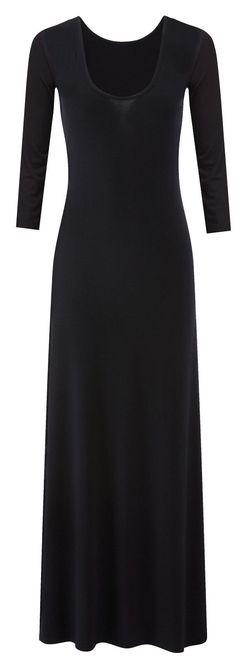 plain black maxi jersey dress <3