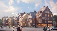 Architecture Visualization, Urban Architecture, Sustainable Architecture, Residential Architecture, Mountain Villa, Co Housing, Wooden Facade, Residential Complex, Urban Planning