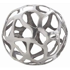 Ennis Large Polished Nickel Web Sphere    Material: Aluminum