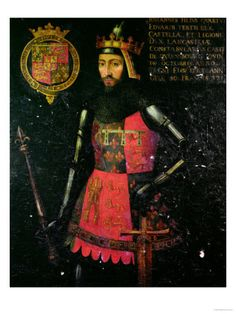 John of Gaunt, Duke of Lancaster son of Edward III of England and Philippa of Hainault. Husband to Blanche of Lancaster, Constance of Castile and Katherine Swynford Tudor History, European History, British History, Ancient History, Uk History, Asian History, History Facts, John Of Gaunt, Richard Iii