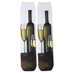 White Wine Sublimation Tube Socks