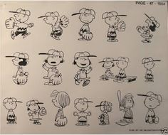 Peanuts model sheets