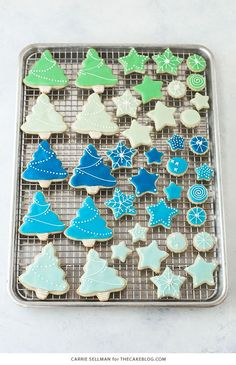 Decorated Sugar Cookies - vanilla bean sugar cookies with a simple glaze icing for easy yet thoughtful gift giving   by Carrie Sellman for TheCakeBlog.com
