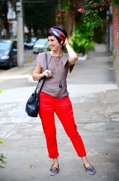 Turbante e dois looks coloridos