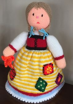 3 pins here for this item. Beautiful Hand Knitted Cinderella Topsy Turvy Doll by Jules4CF