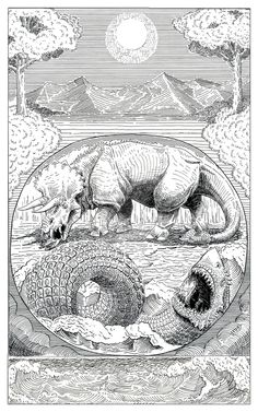 Behemoth and Leviathan ink by Art-Minion-Andrew0