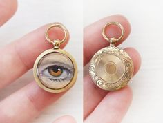 ANTIQUE Georgian Golden Eye Rolled Gold photo locket at   Etsy Golden Eyes, Eye Roll, Georgian, Pocket Watch, Pendants, Drop Earrings, Trending Outfits, Antiques, Unique Jewelry
