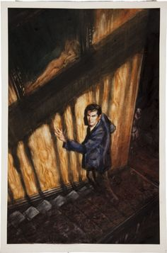Original Comic Art:Covers, Felipe Echevarria Alfred Hitchcock's Psycho #3Unpublished Cover featuring Anthony Perkins Original Ar... Image #1
