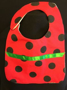 Red & Black Polka Dot Bib by InspiradaPorJULIA on Etsy