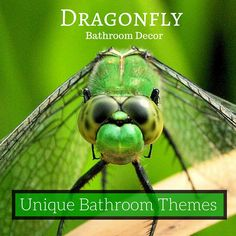 Dragonfly #BathroomDecor Ideas ♥ Unique Bathroom Themes from Nature