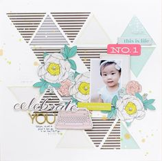 #papercraft #scrapbook #layout   Celebrate You by jc.chris at @Studio_Calico