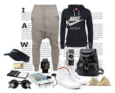 Sport wear by mell-2405 on Polyvore featuring NIKE, Vans, BeiBaoBao, 1:Face, Casetify, In God We Trust, Monster, women's clothing, women's fashion and women