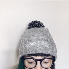TOO TIRED - HEATHER GREY HAT - Bloody Nora Pam