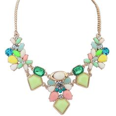 Ruby Rocks Jewellery Multi Gem Necklace ($30) ❤ liked on Polyvore featuring jewelry, necklaces, multicolour, adjustable necklace, adjustable chain necklace, tri color necklace, gemstone pendants and multi colored gemstone pendant