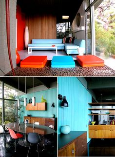 retro-style interior with colour | the style files