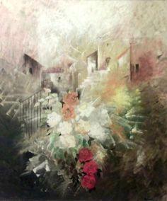 Natura con rose, Painting by Anna Rita Angiolelli | Artfinder