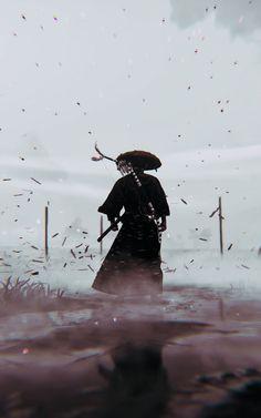 Aesthetic Japan, Japanese Aesthetic, Samurai Wallpaper, Gothic Wallpaper, Samurai Artwork, Ninja Art, Japanese Warrior, Ghost Of Tsushima, Art Anime