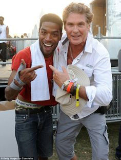 David! Hasselhoff, 61, tries to keep up with the hip Coachella 2014