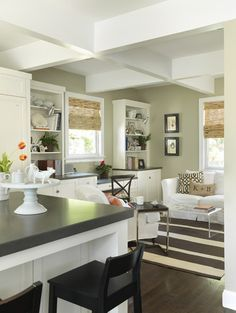 LOVE THIS COLOR ON WALL, WHAT IS IT - Houzz -C2 Vex or Lily Pad SH..could use for the cabinet colors olive green with taupe glaze
