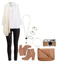 Untitled #1329 by hernandezjenni on Polyvore featuring polyvore fashion style The Row River Island CO Topshop Dogeared Hermès clothing