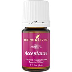 Acceptance™ stimulates the mind with oils specially blended to promote feelings of accepting ourselves and others, regardless of perceived barriers. This blend also helps overcome procrastination and denial.