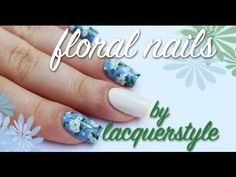 White Floral Nail Art Tutorial | Lacquerstyle