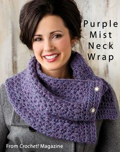 Purple Mist Neck Wrap from the Winter 2013 issue of Crochet! Magazine. Order a digital copy here: www.anniescatalog...