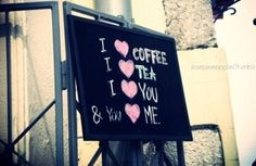 coffe and tea sign...super cute!