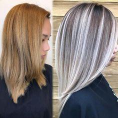 45 Silver Hair Color Ideas For Grey Hairstyles Hair Color And Cut, Cool Hair Color, Grey Hair Transformation, Grey Blonde Hair, Truss Hair, Gray Hair Highlights, Hair Painting, Balayage Hair, Hair Looks