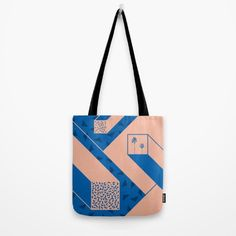 fd5a4c6b4d palm geometry Tote Bag by Productions